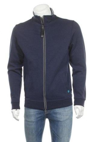 Мъжко спортно горнище Tom Tailor, Размер M, Цвят Син, 70% памук, 30% полиестер, Цена 59,25лв.