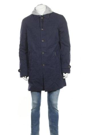 Ανδρικό μπουφάν Desigual, Μέγεθος XL, Χρώμα Μπλέ, 47% βαμβάκι, 33% πολυεστέρας, 20% πολυαμίδη, Τιμή 55,44€