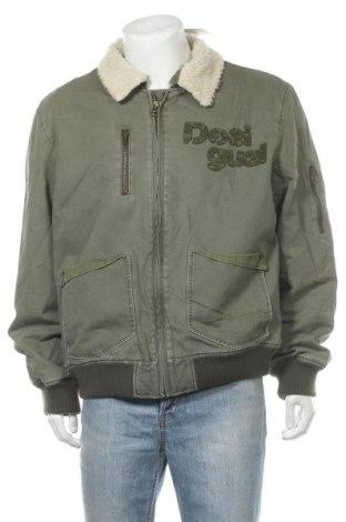 Ανδρικό μπουφάν Desigual, Μέγεθος XXL, Χρώμα Πράσινο, Βαμβάκι, Τιμή 35,73€