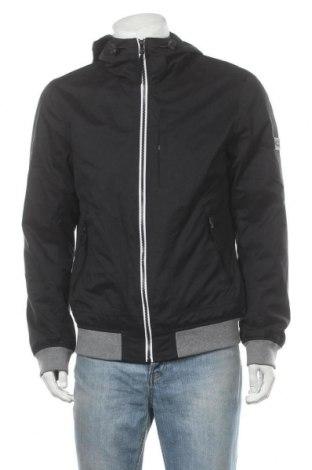 Мъжко яке Tom Tailor, Размер L, Цвят Черен, 75% полиестер, 15% памук, 10% полиамид, Цена 114,00лв.