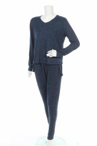 Пижама Anna Field, Размер M, Цвят Син, 80% вискоза, 14% полиестер, 6% еластан, Цена 33,00лв.