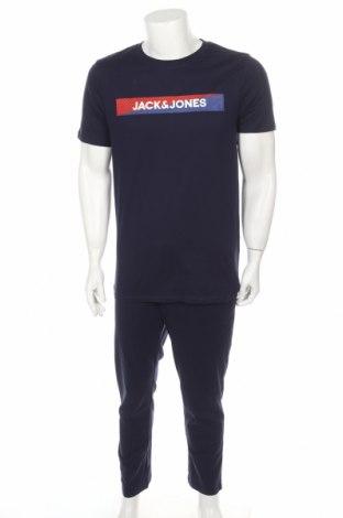 Πιτζάμες Jack & Jones, Μέγεθος XL, Χρώμα Μπλέ, Βαμβάκι, Τιμή 19,56€