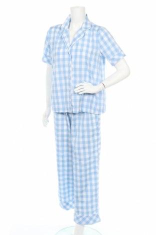Πιτζάμες Trendyol, Μέγεθος M, Χρώμα Μπλέ, 60% πολυεστέρας, 40% βαμβάκι, Τιμή 15,80€