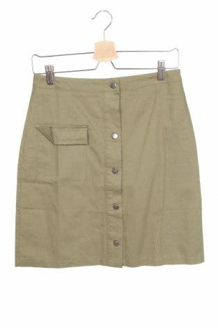 Φούστα Boohoo, Μέγεθος XS, Χρώμα Πράσινο, Βαμβάκι, Τιμή 5,67€