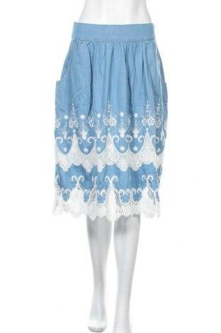 Φούστα Desigual, Μέγεθος M, Χρώμα Μπλέ, 77% βαμβάκι, 23% πολυεστέρας, Τιμή 42,99€