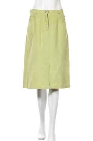 Φούστα Max Mara, Μέγεθος M, Χρώμα Πράσινο, Λινό, Τιμή 51,31€