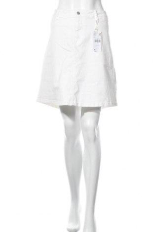 Пола Violeta by Mango, Размер L, Цвят Бял, 98% памук, 2% еластан, Цена 20,02лв.