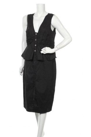 Рокля Atmos & Here, Размер XL, Цвят Черен, 95% памук, 5% еластан, Цена 41,90лв.