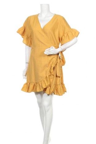 Φόρεμα Dotti, Μέγεθος XL, Χρώμα Κίτρινο, 67% βισκόζη, 33% πολυαμίδη, Τιμή 17,54€