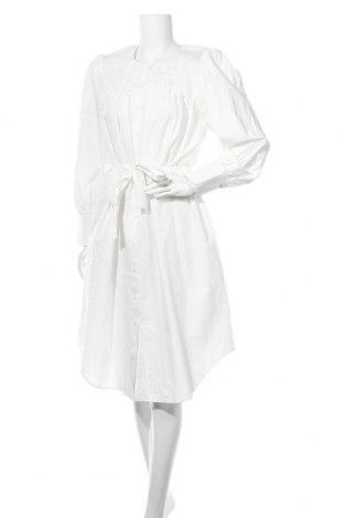 Φόρεμα Numph, Μέγεθος L, Χρώμα Εκρού, Βαμβάκι, Τιμή 30,67€