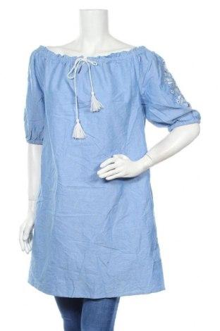Τουνίκ Now, Μέγεθος XL, Χρώμα Μπλέ, Βαμβάκι, Τιμή 22,08€