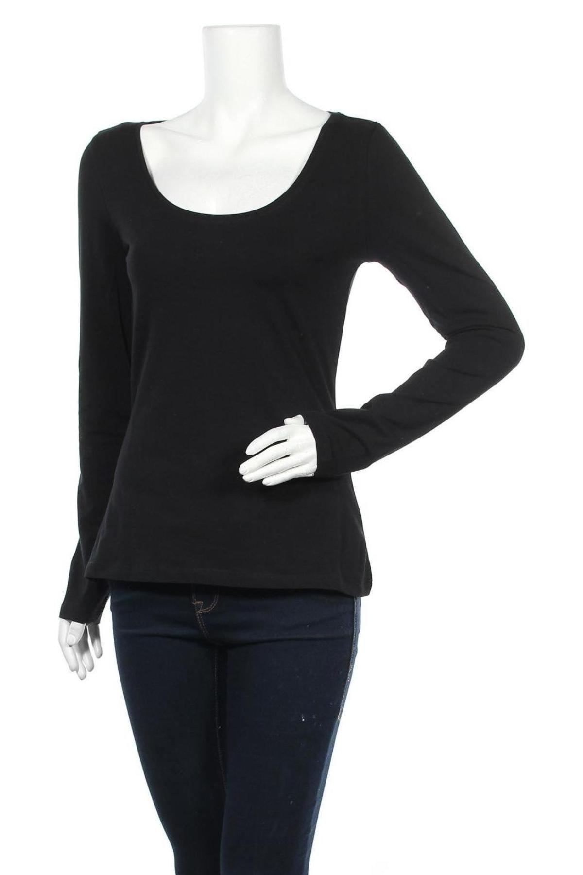 Дамска блуза Anna Field, Размер M, Цвят Черен, 95% памук, 5% еластан, Цена 31,50лв.