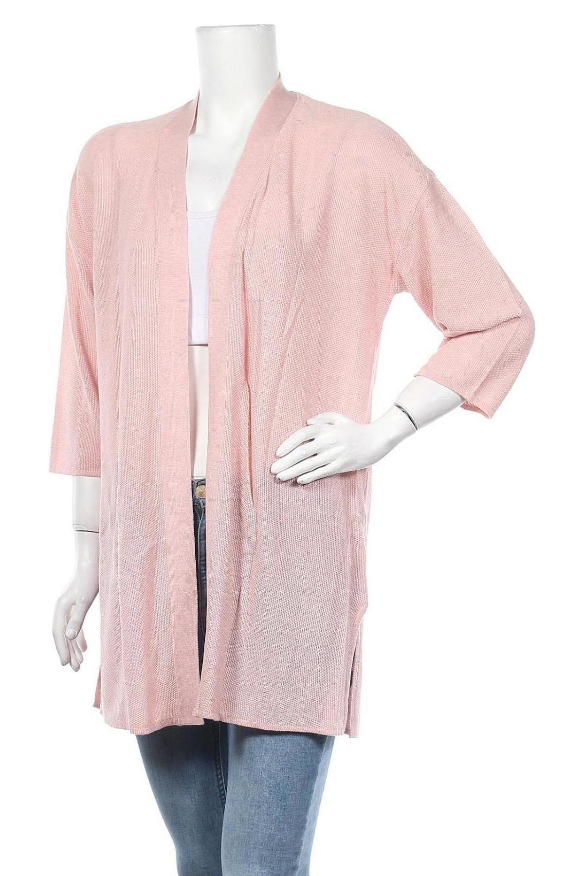 Дамска жилетка Laura Scott, Размер XS, Цвят Розов, 50% вискоза, 50% акрил, Цена 20,06лв.