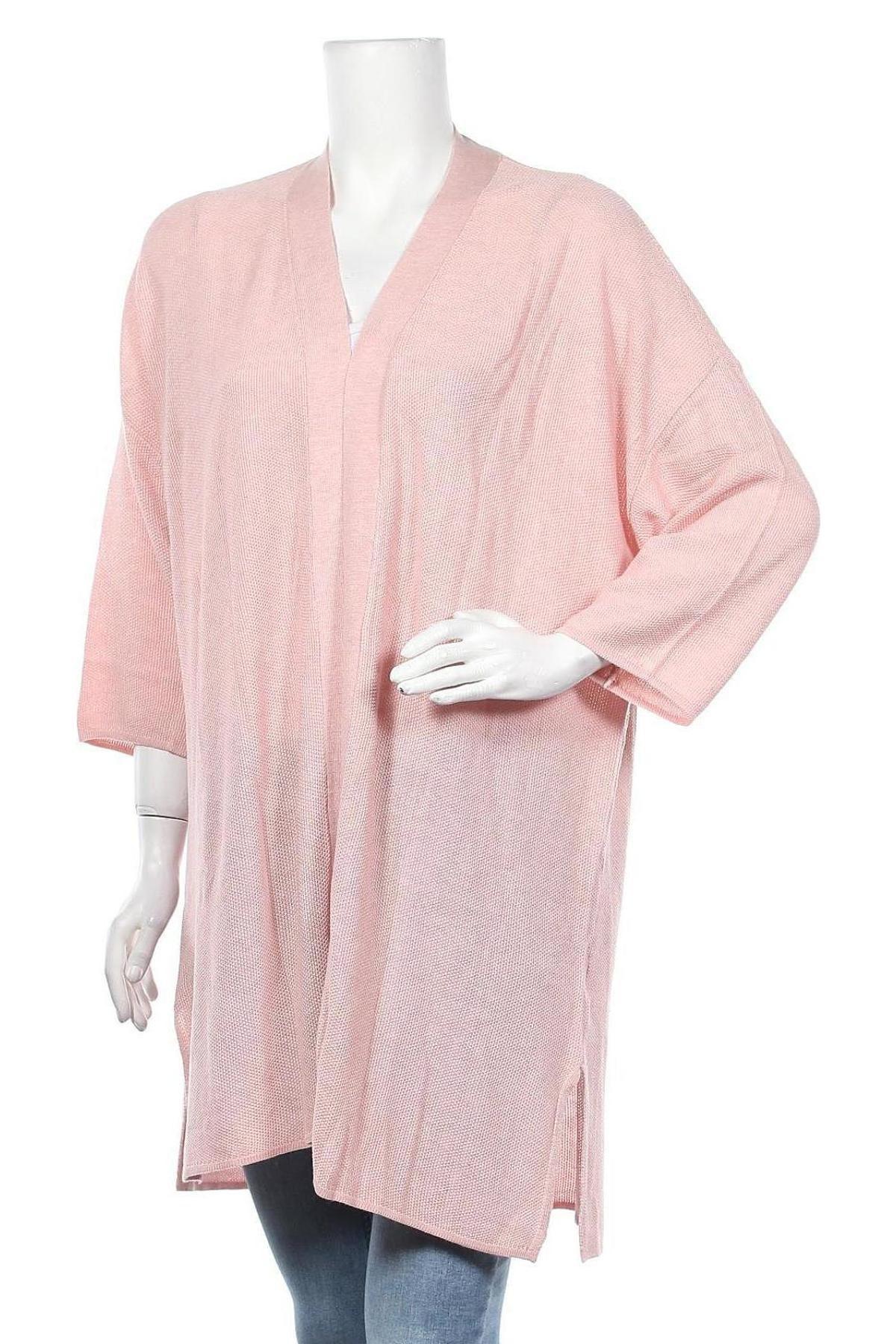 Дамска жилетка Laura Scott, Размер L, Цвят Розов, 50% вискоза, 50% акрил, Цена 20,06лв.
