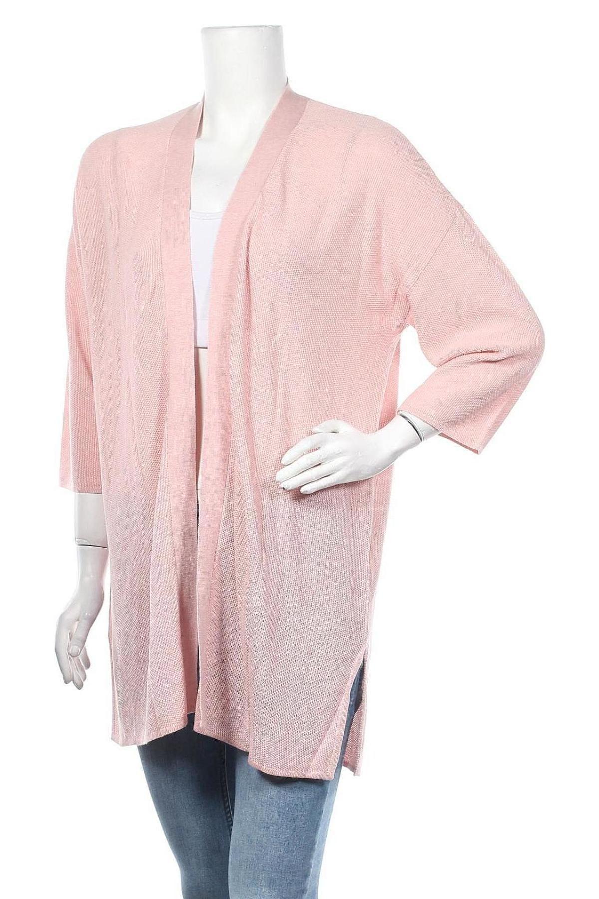 Дамска жилетка Laura Scott, Размер XS, Цвят Розов, 50% вискоза, 50% акрил, Цена 14,04лв.