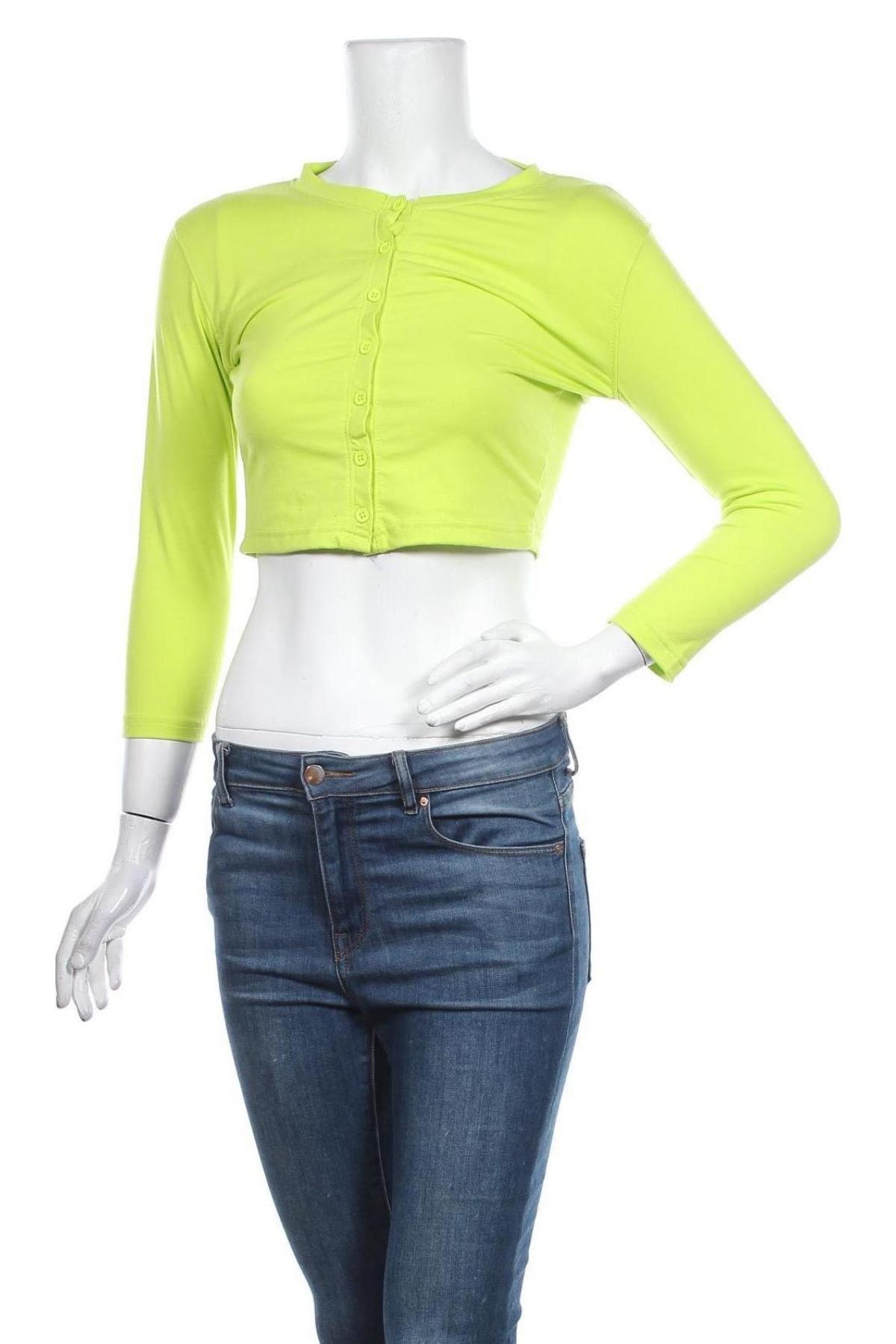 Дамска жилетка Missguided, Размер M, Цвят Зелен, 80% полиестер, 20% вискоза, Цена 9,12лв.