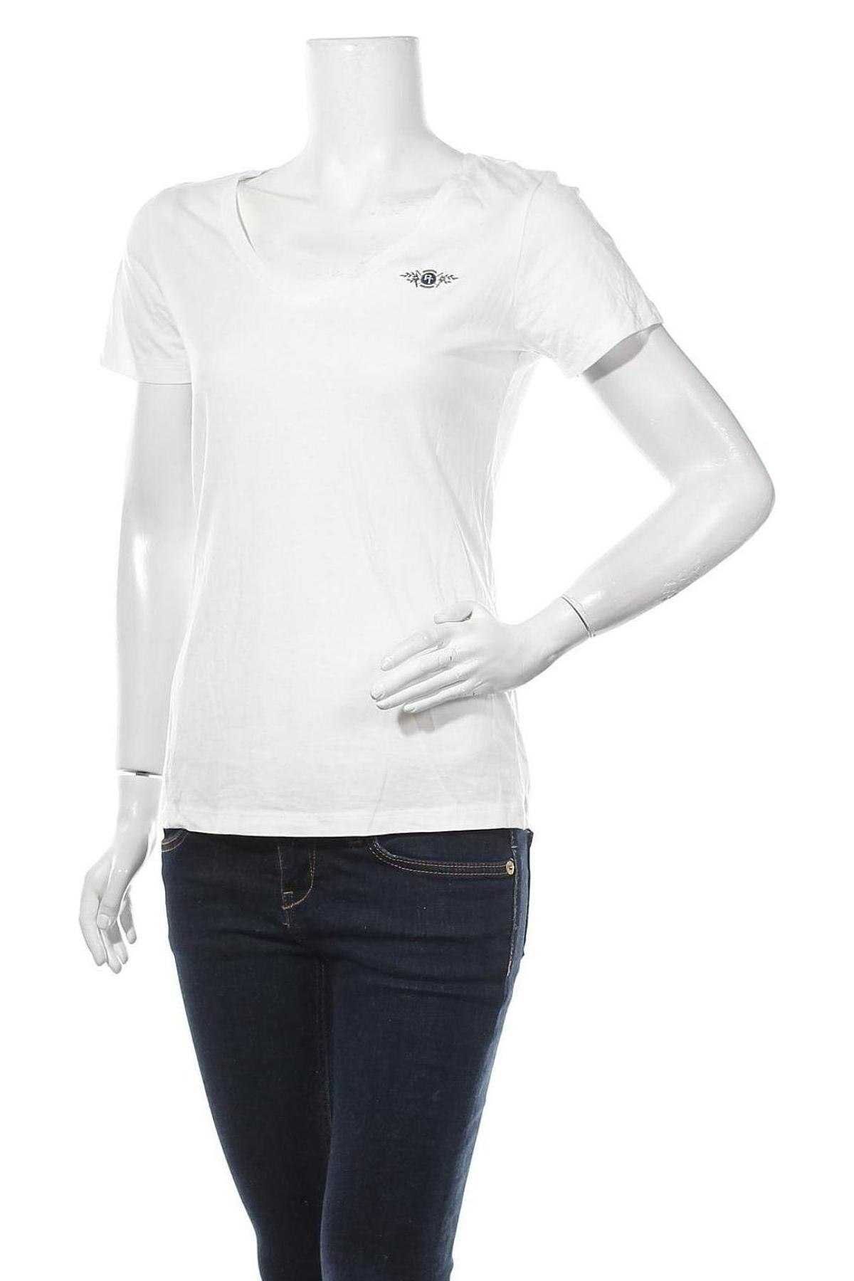 Γυναικείο t-shirt Tom Tailor, Μέγεθος S, Χρώμα Εκρού, 50% βαμβάκι, 50% μοντάλ, Τιμή 15,08€