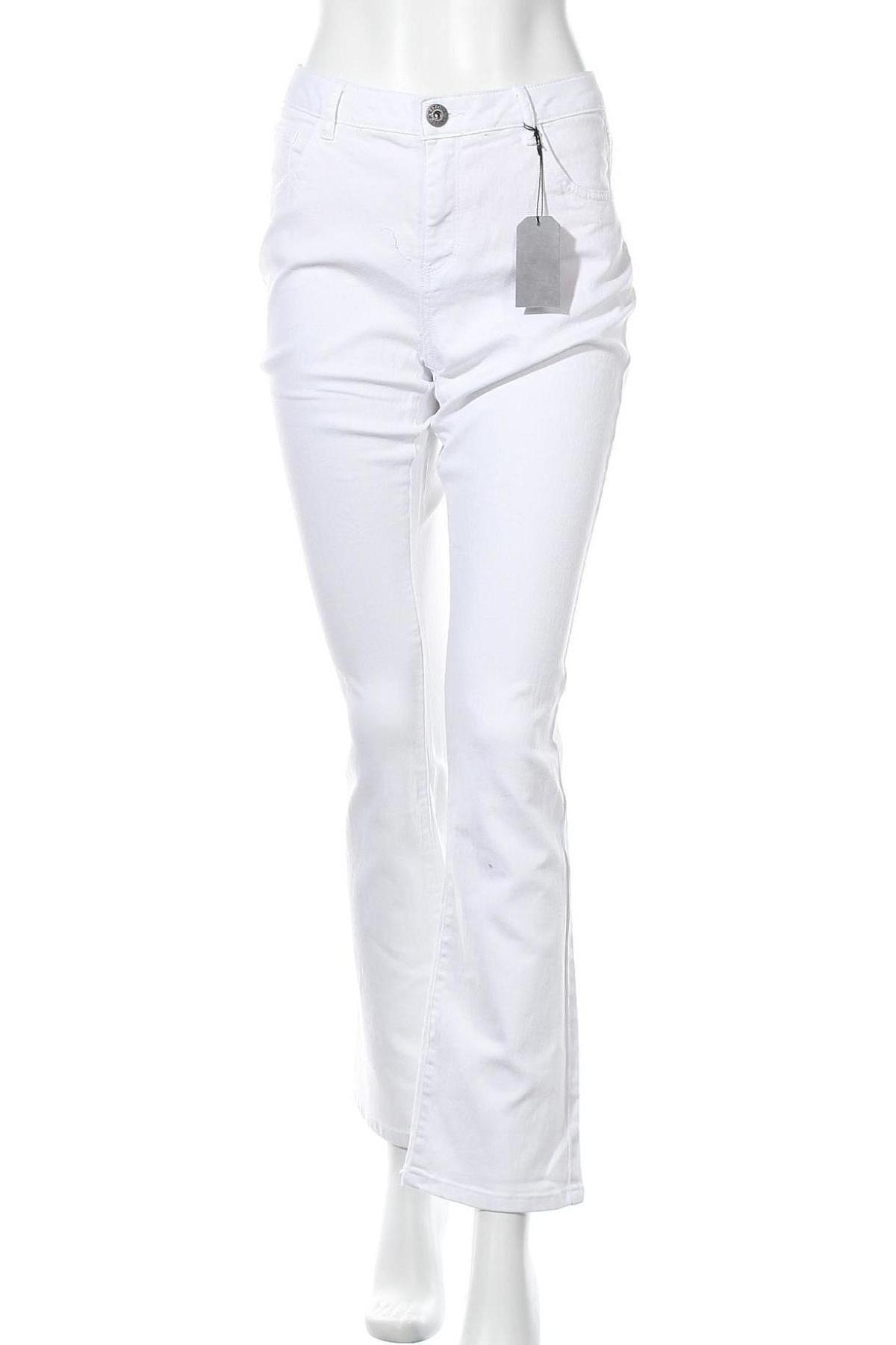 Дамски дънки Arizona, Размер XL, Цвят Бял, 65% памук, 33% полиестер, 2% еластан, Цена 39,50лв.