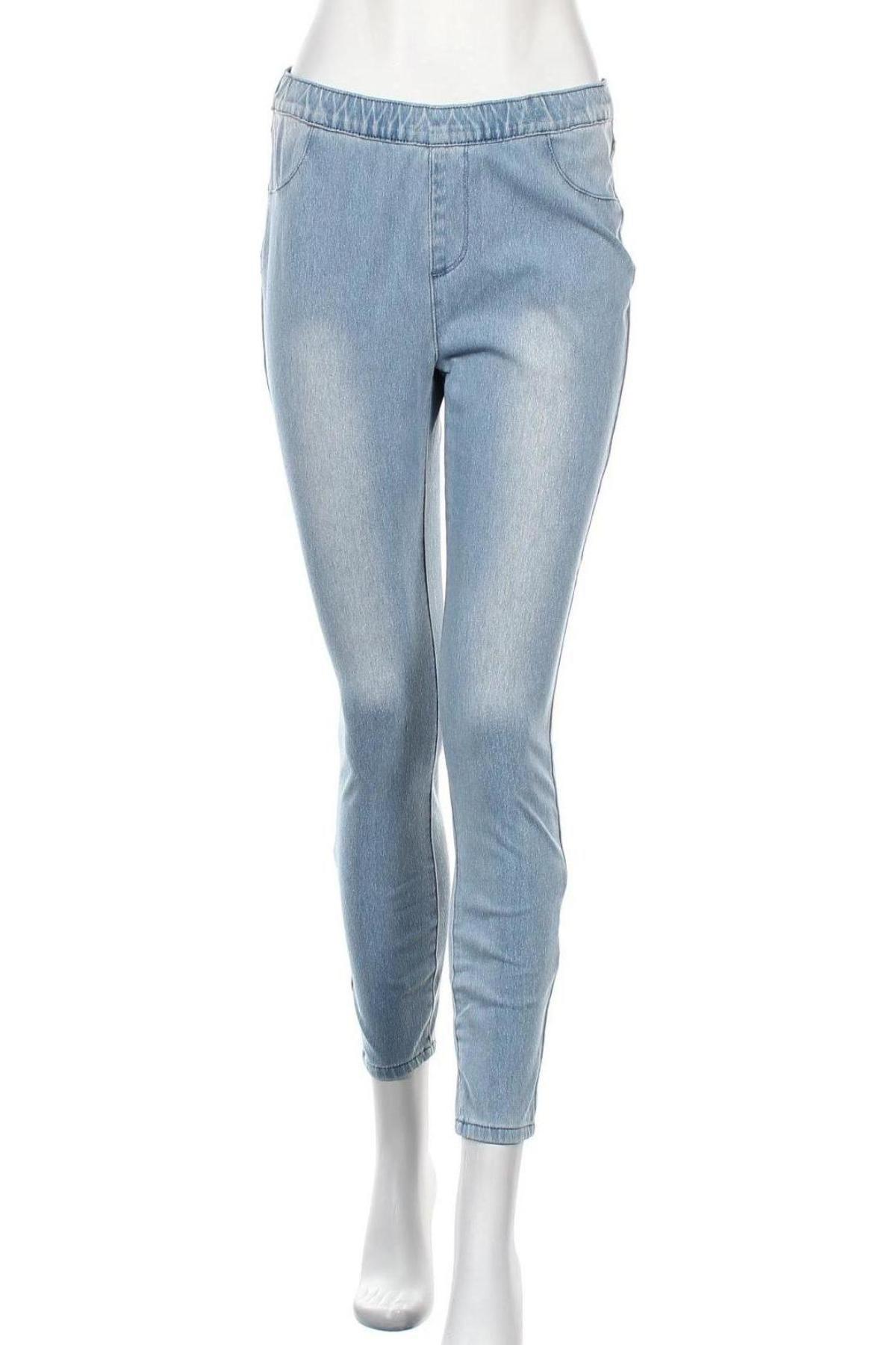 Дамски дънки Arizona, Размер M, Цвят Син, 62% памук, 28% полиестер, 10% еластан, Цена 29,68лв.