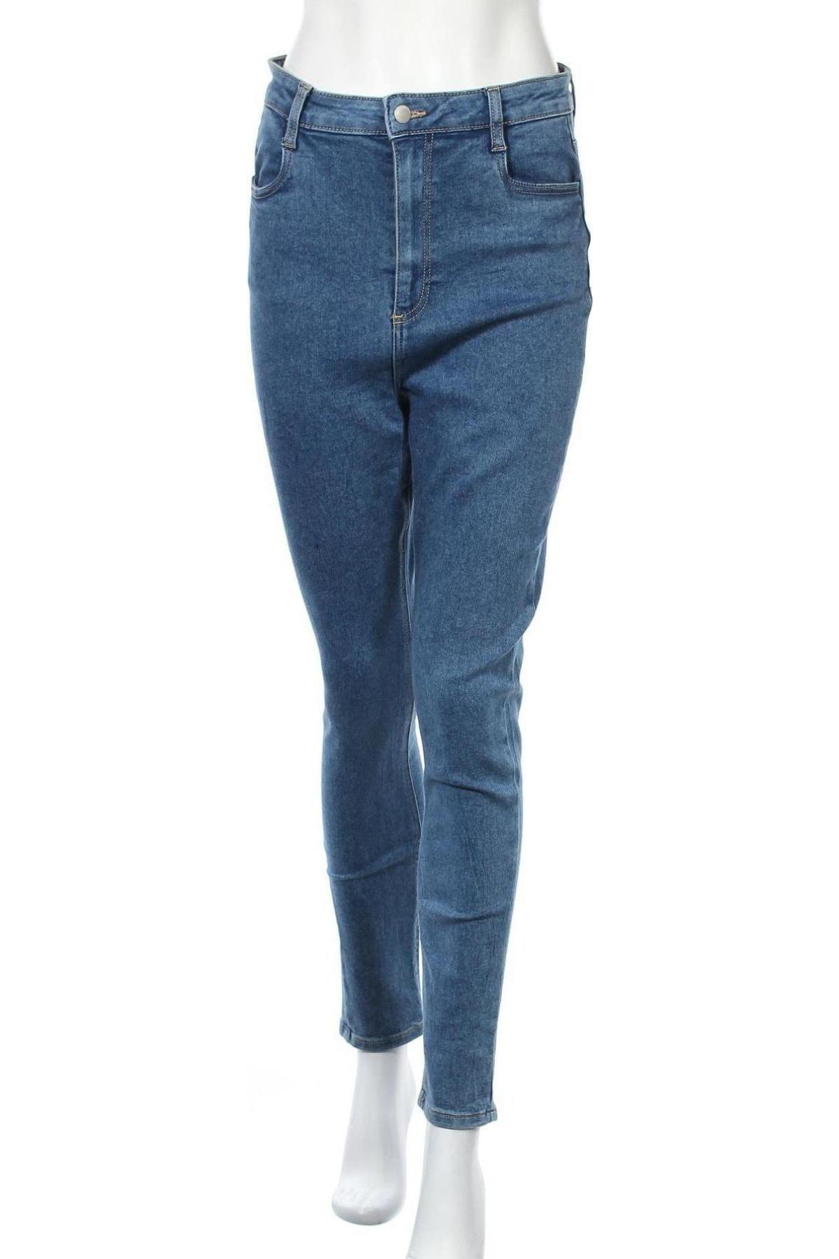 Дамски дънки Cotton On, Размер L, Цвят Син, 72% памук, 26% полиестер, 2% еластан, Цена 27,56лв.