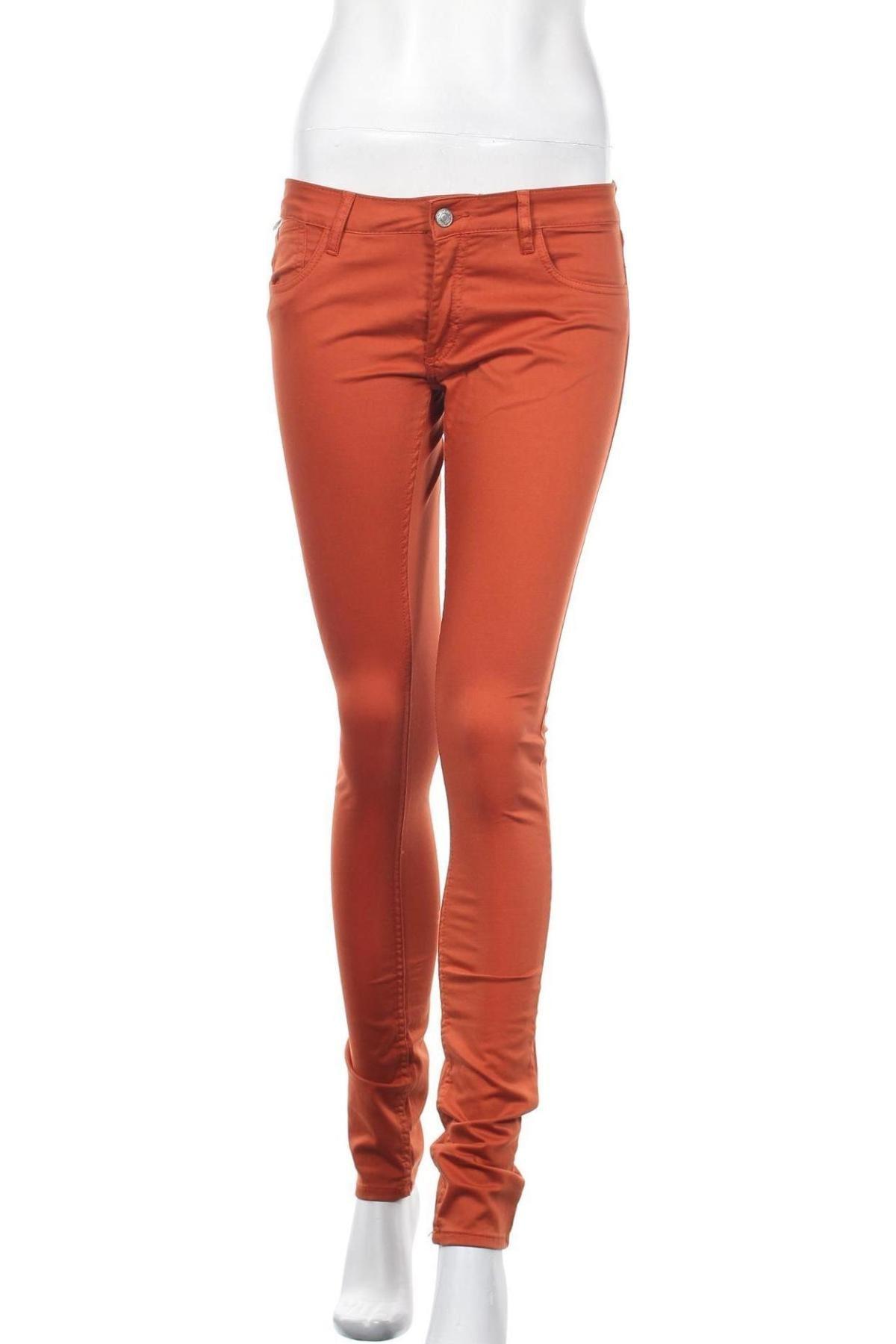 Дамски дънки Le Temps Des Cerises, Размер S, Цвят Оранжев, 97% памук, 3% еластан, Цена 27,00лв.