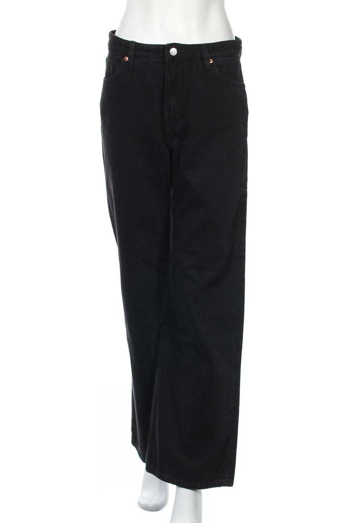 Дамски дънки Monki, Размер M, Цвят Черен, Памук, Цена 40,50лв.