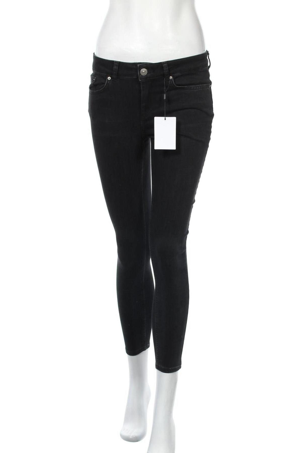 Γυναικείο Τζίν Pieces, Μέγεθος S, Χρώμα Μαύρο, 89% βαμβάκι, 9% πολυεστέρας, 2% ελαστάνη, Τιμή 22,81€