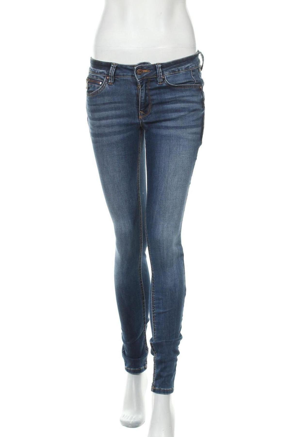 Дамски дънки Tom Tailor, Размер S, Цвят Син, 72% памук, 27% полиестер, 1% еластан, Цена 63,00лв.