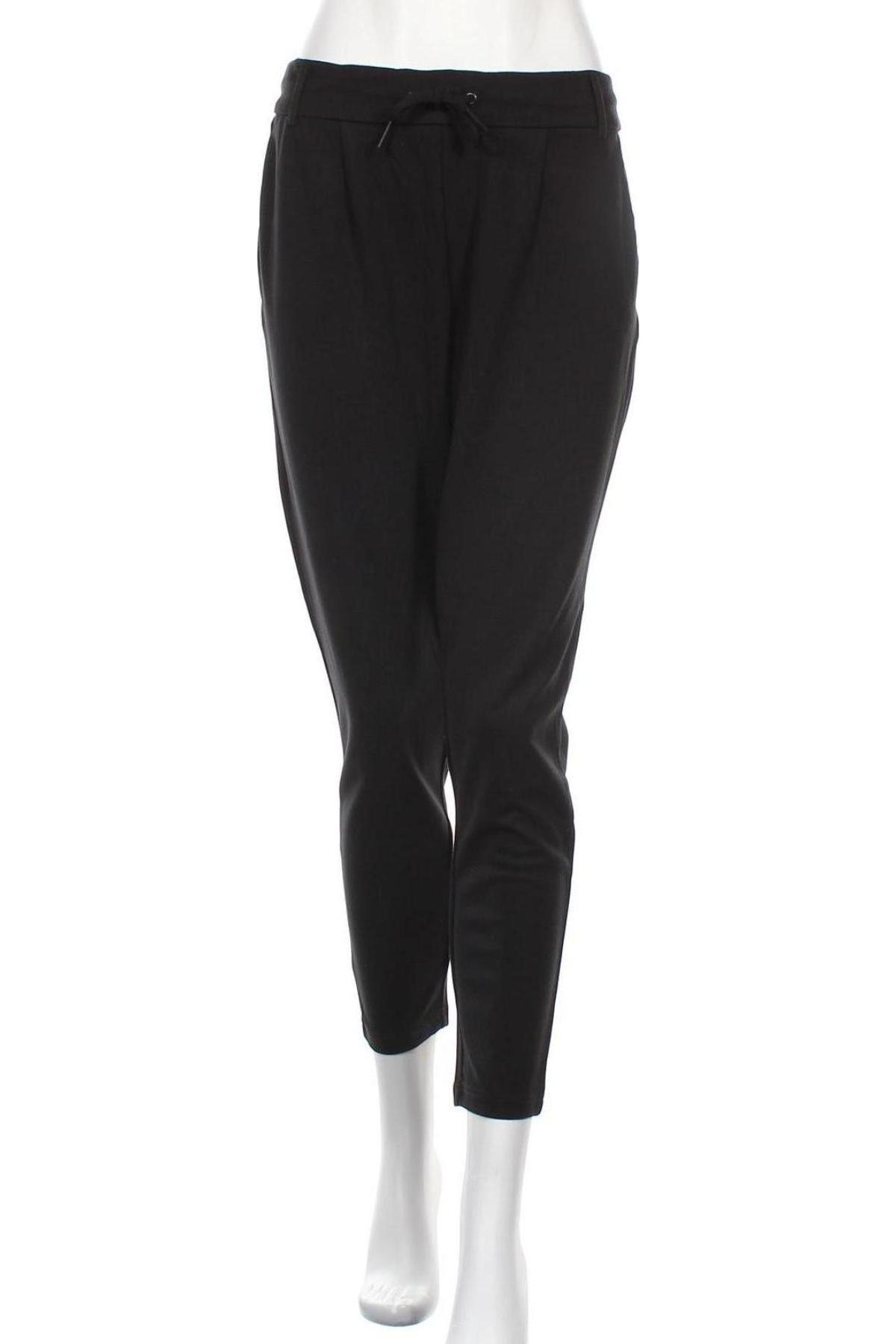 Дамски панталон ONLY, Размер L, Цвят Черен, 63% вискоза, 32% полиамид, 2% еластан, Цена 27,00лв.