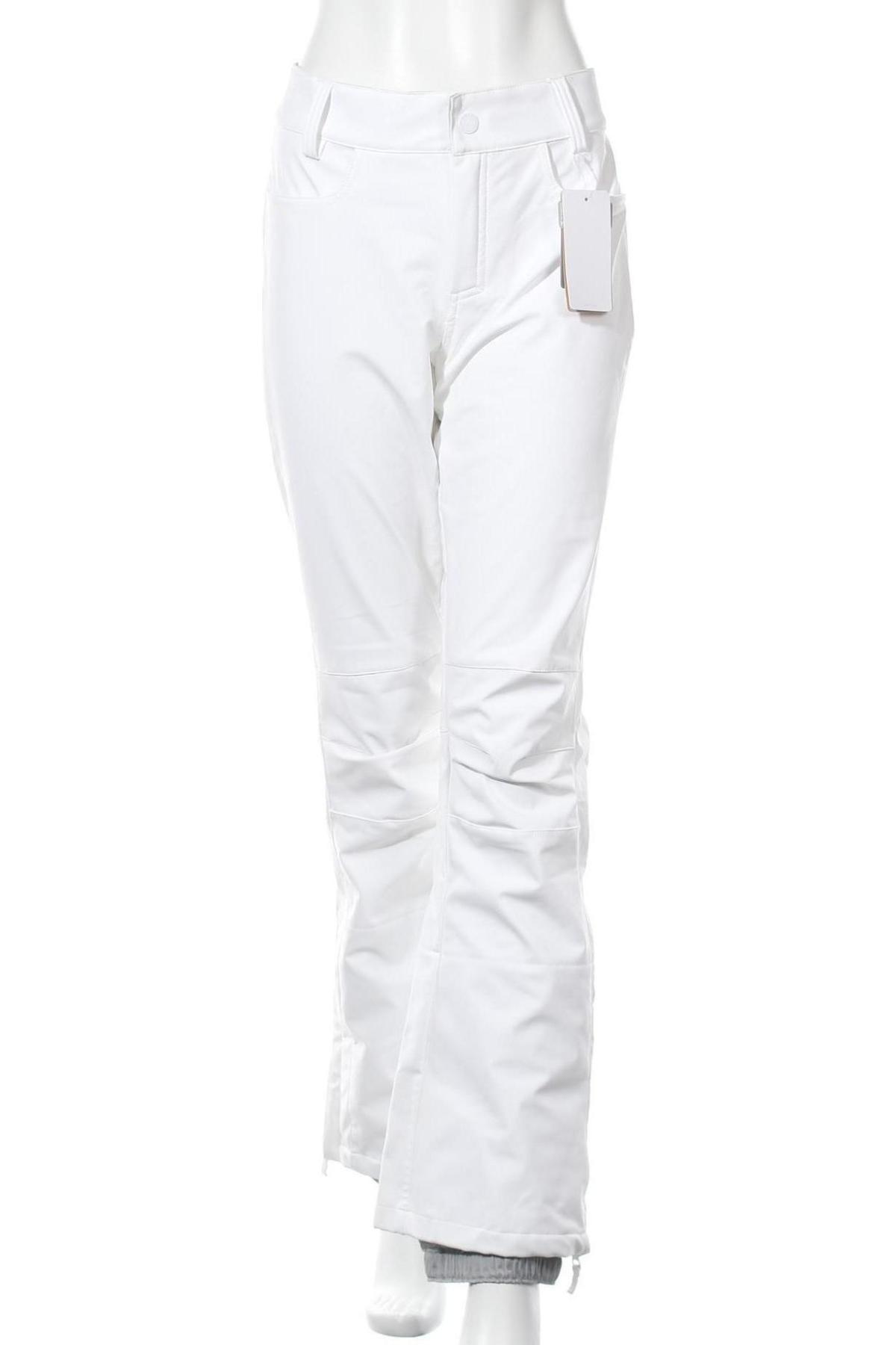 Дамски панталон за зимни спортове Roxy, Размер L, Цвят Бял, 89% полиестер, 11% еластан, Цена 47,25лв.