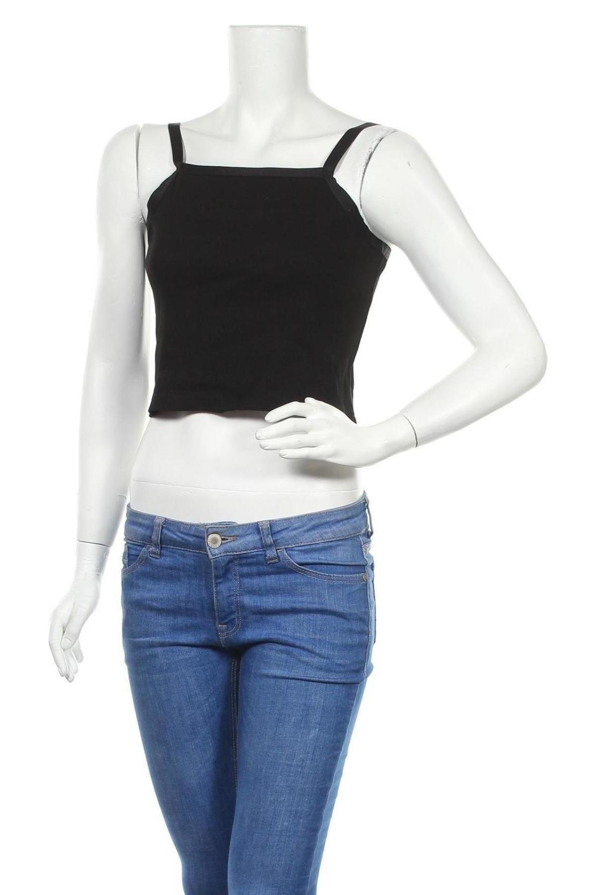 Γυναικείο αμάνικο μπλουζάκι Dr. Denim, Μέγεθος L, Χρώμα Μαύρο, 97% βαμβάκι, 3% ελαστάνη, Τιμή 4,69€