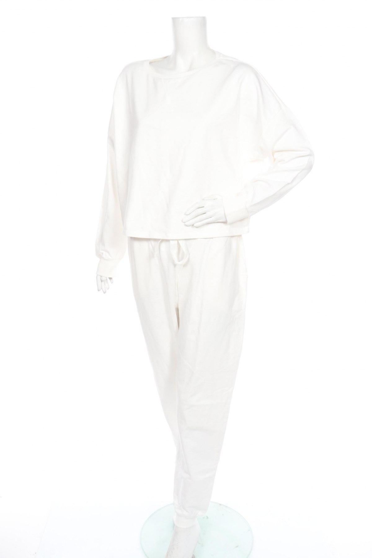 Дамски спортен комплект Anna Field, Размер L, Цвят Бял, Памук, Цена 40,02лв.