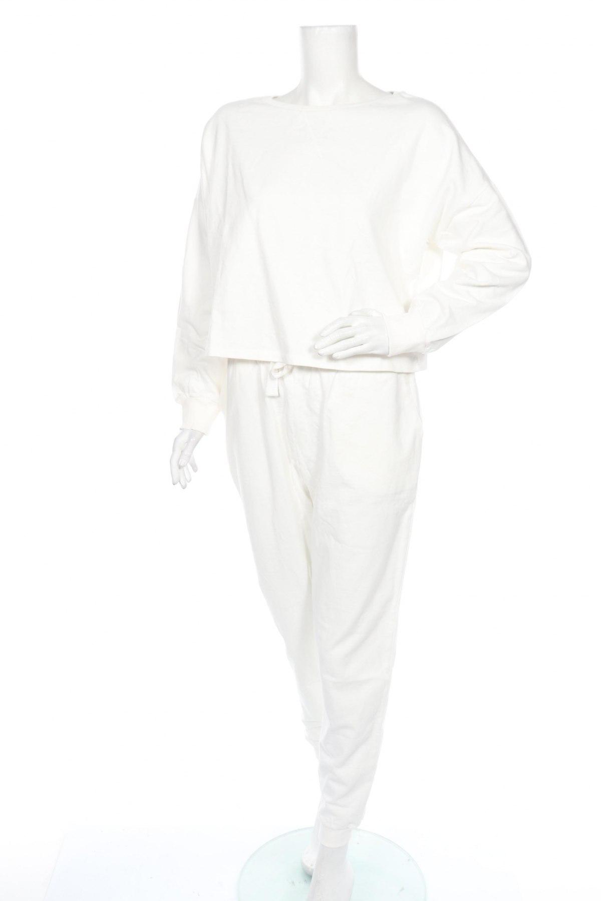 Дамски спортен комплект Anna Field, Размер M, Цвят Бял, Памук, Цена 37,26лв.