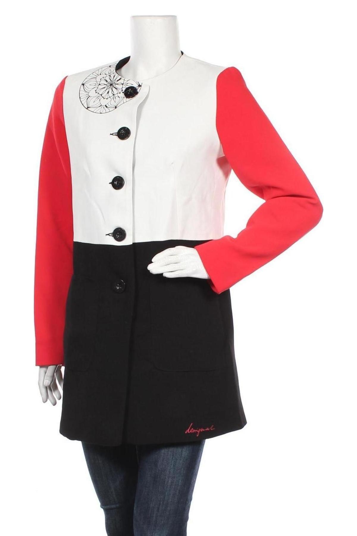 Дамско палто Desigual, Размер M, Цвят Многоцветен, Полиестер, Цена 90,82лв.