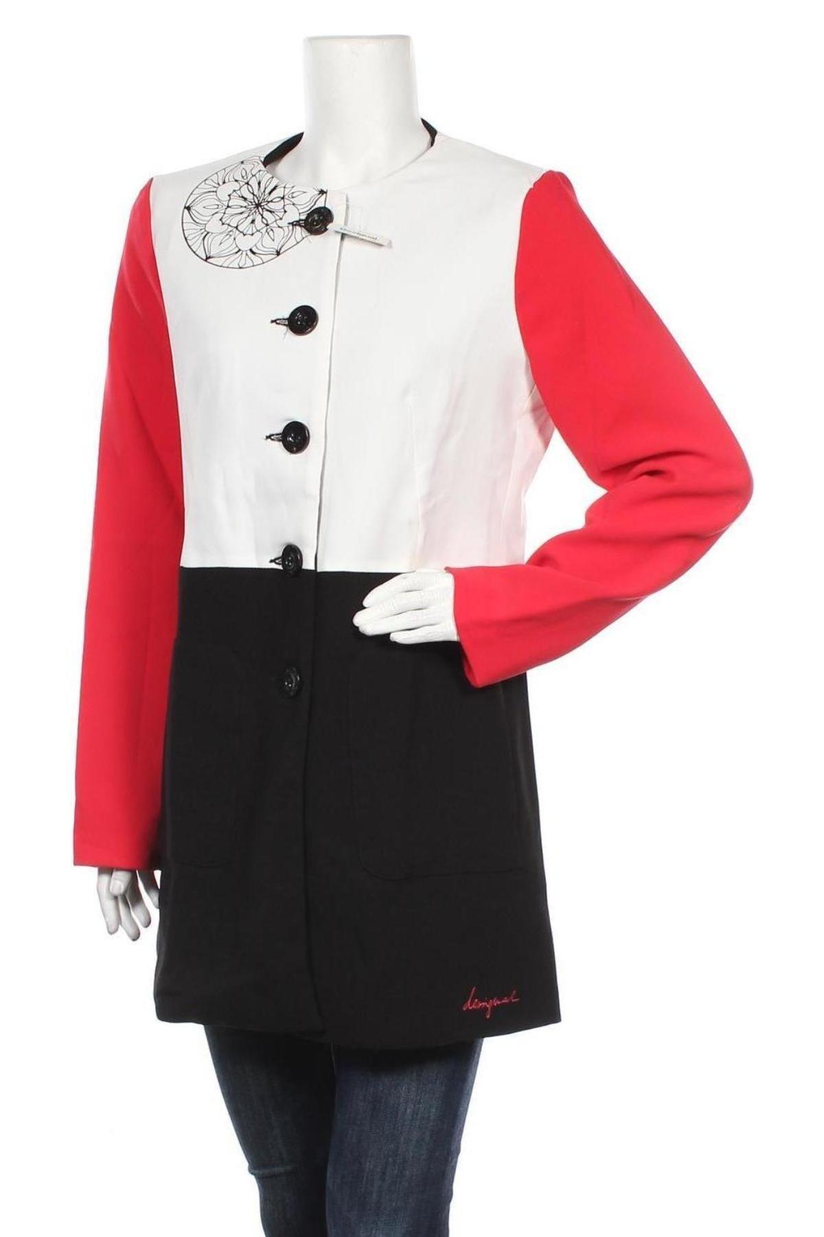 Дамско палто Desigual, Размер L, Цвят Многоцветен, Полиестер, Цена 102,77лв.
