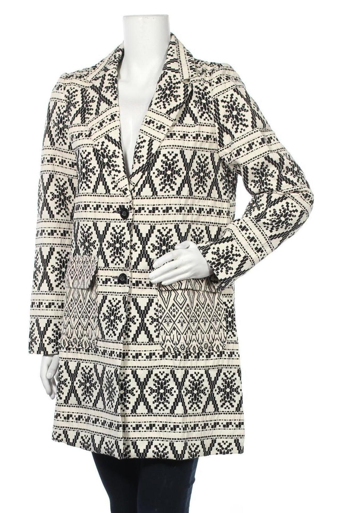 Дамско палто Desigual by Christian Lacroix, Размер XL, Цвят Бежов, 94% полиестер, 6% еластан, Цена 119,50лв.