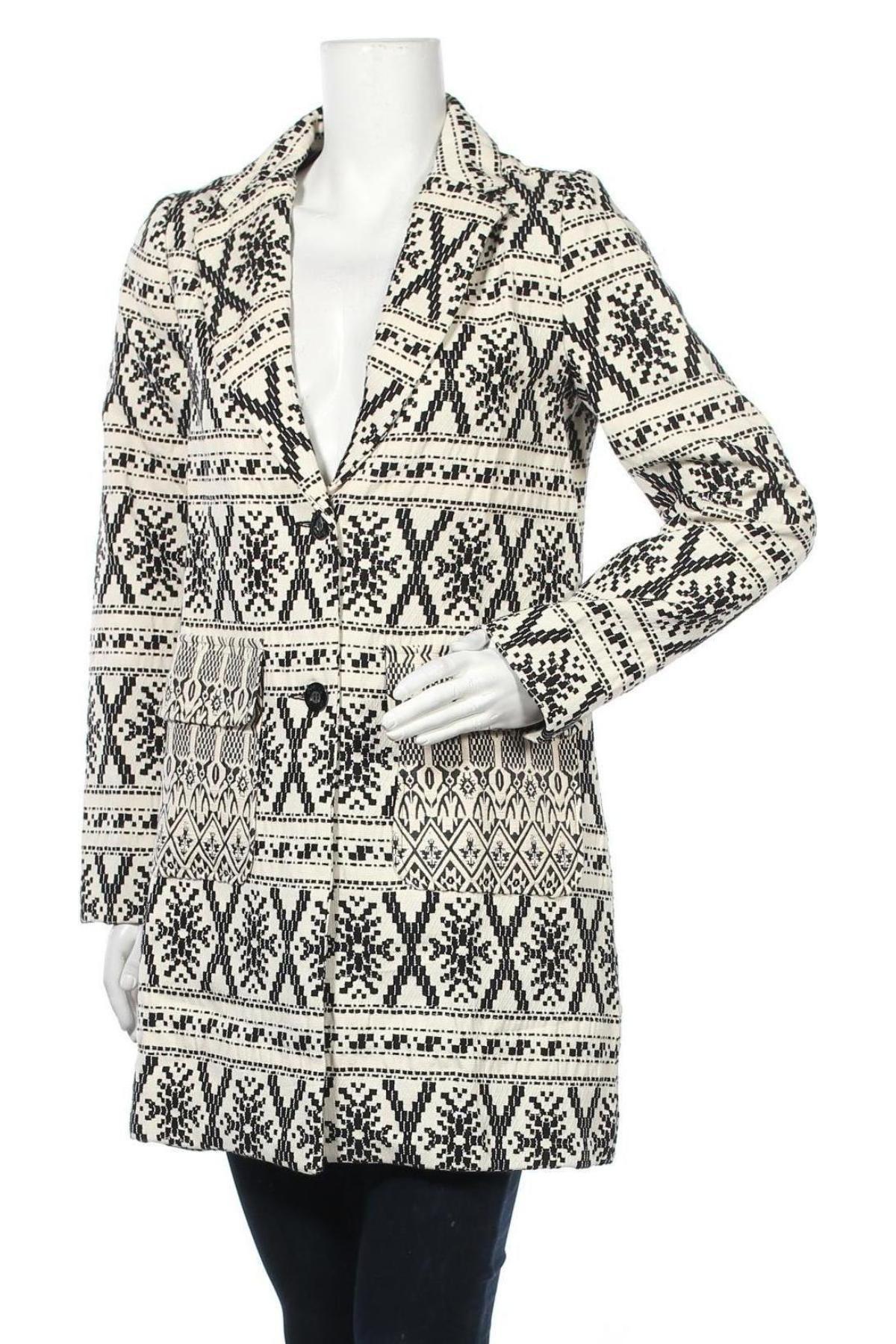 Дамско палто Desigual by Christian Lacroix, Размер L, Цвят Бежов, 94% полиестер, 6% еластан, Цена 119,50лв.