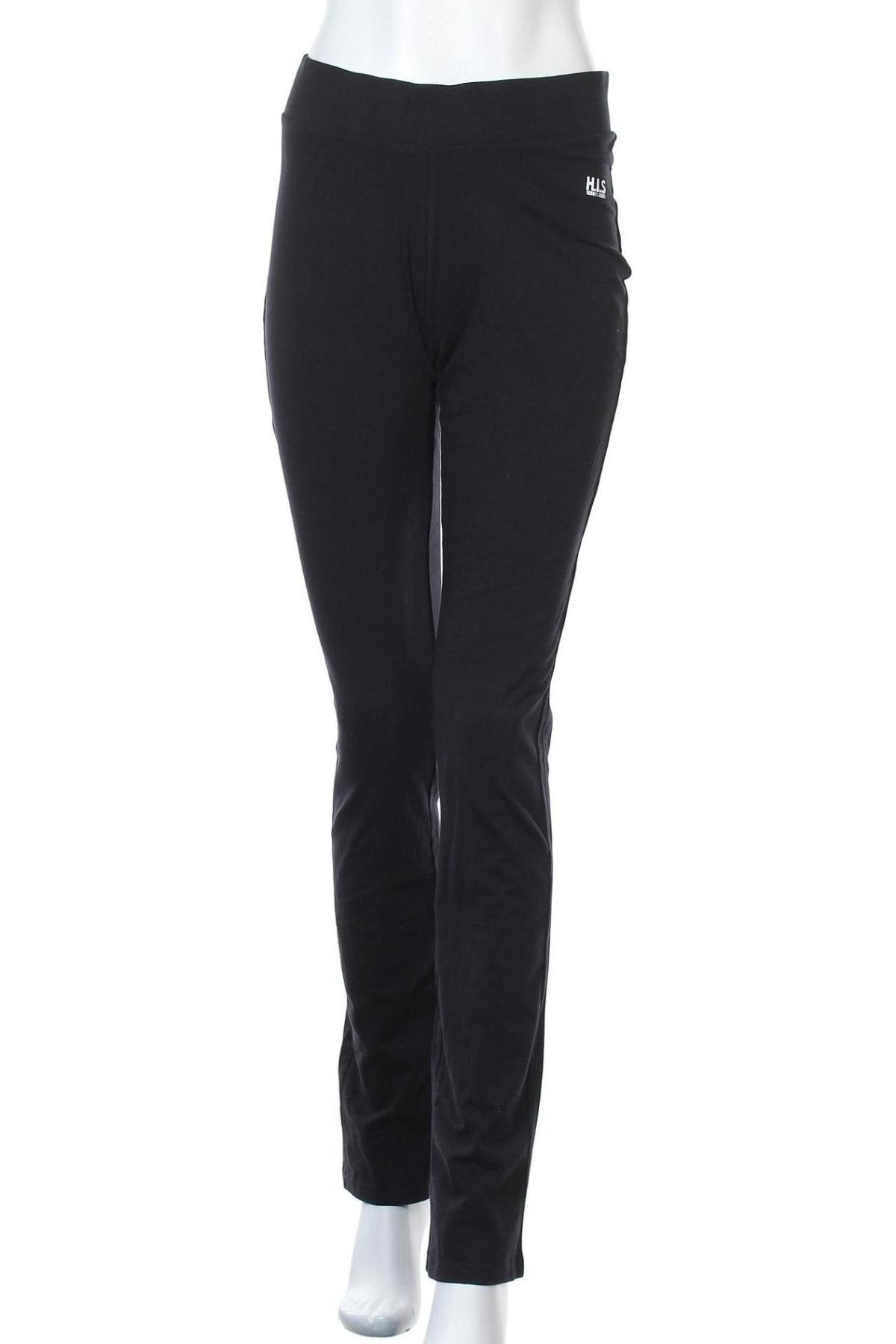 Дамско спортно долнище H.i.s, Размер L, Цвят Черен, 95% памук, 5% еластан, Цена 44,25лв.