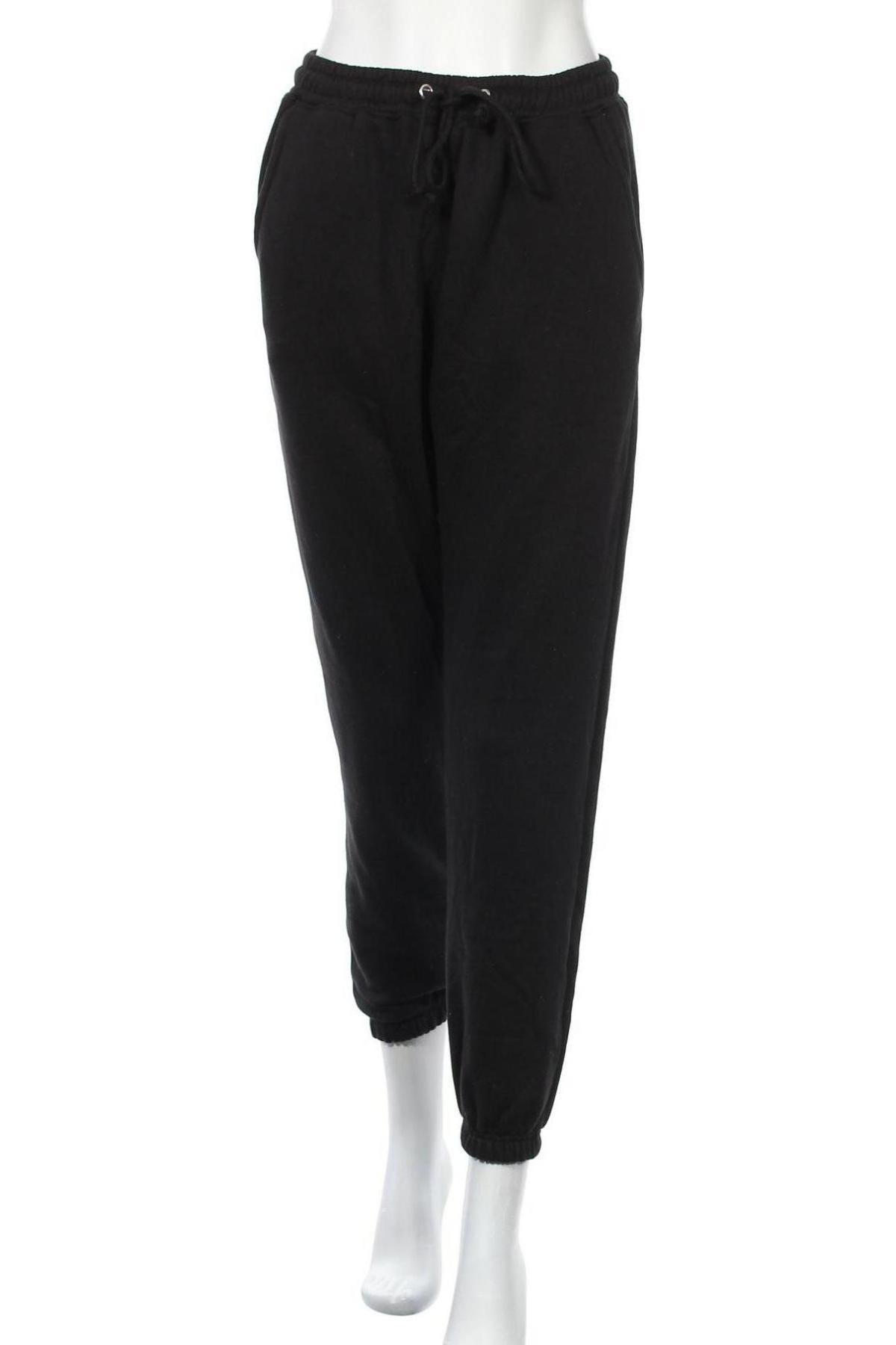 Дамско спортно долнище Missguided, Размер S, Цвят Черен, 60% полиестер, 40% памук, Цена 28,50лв.