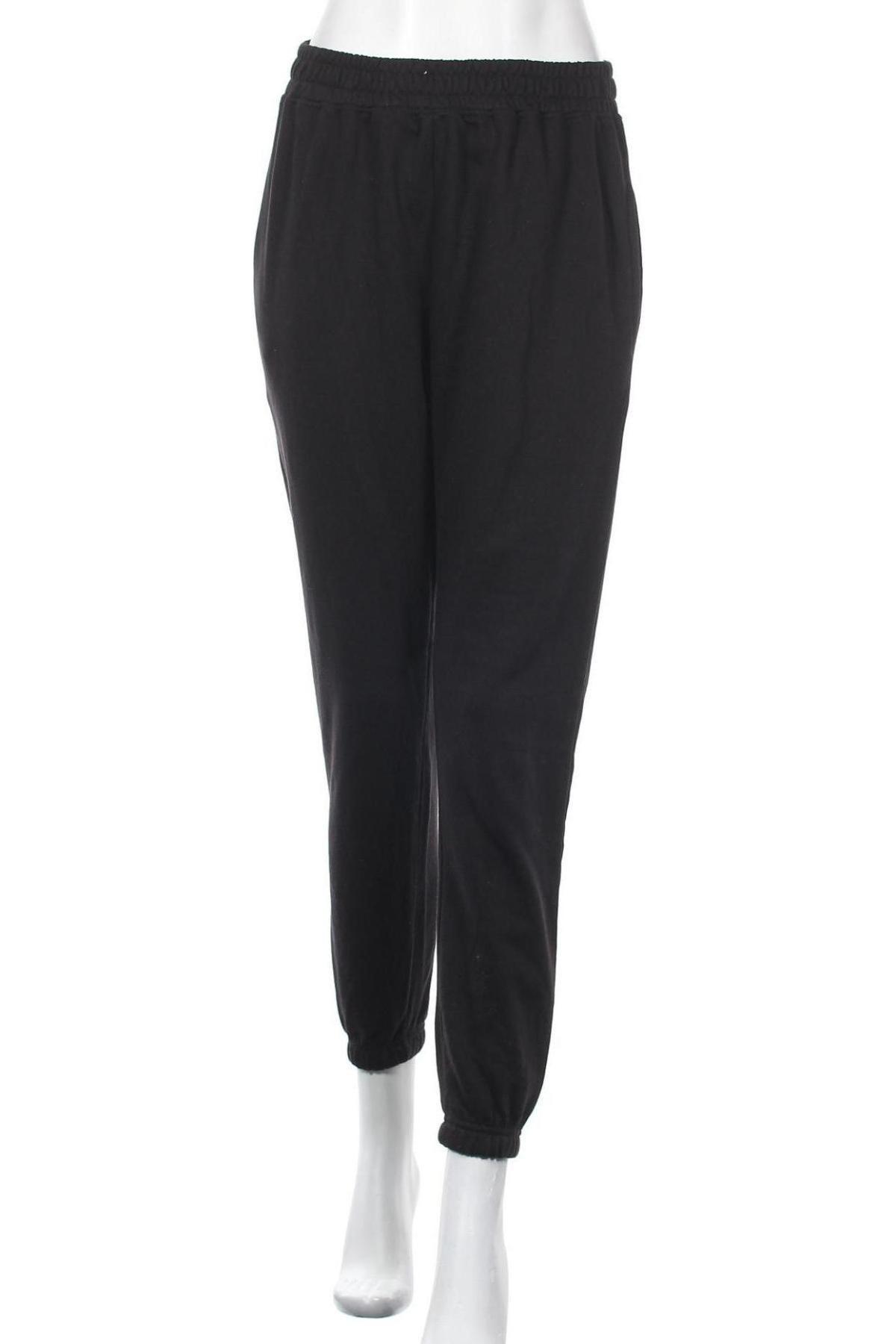Дамско спортно долнище Missguided, Размер M, Цвят Черен, 60% памук, 40% полиестер, Цена 30,66лв.