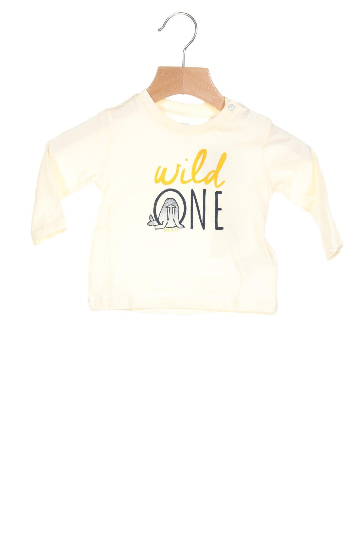 Детска блуза Eat Ants By Sanetta, Размер 1-2m/ 50-56 см, Цвят Бежов, Памук, Цена 31,50лв.