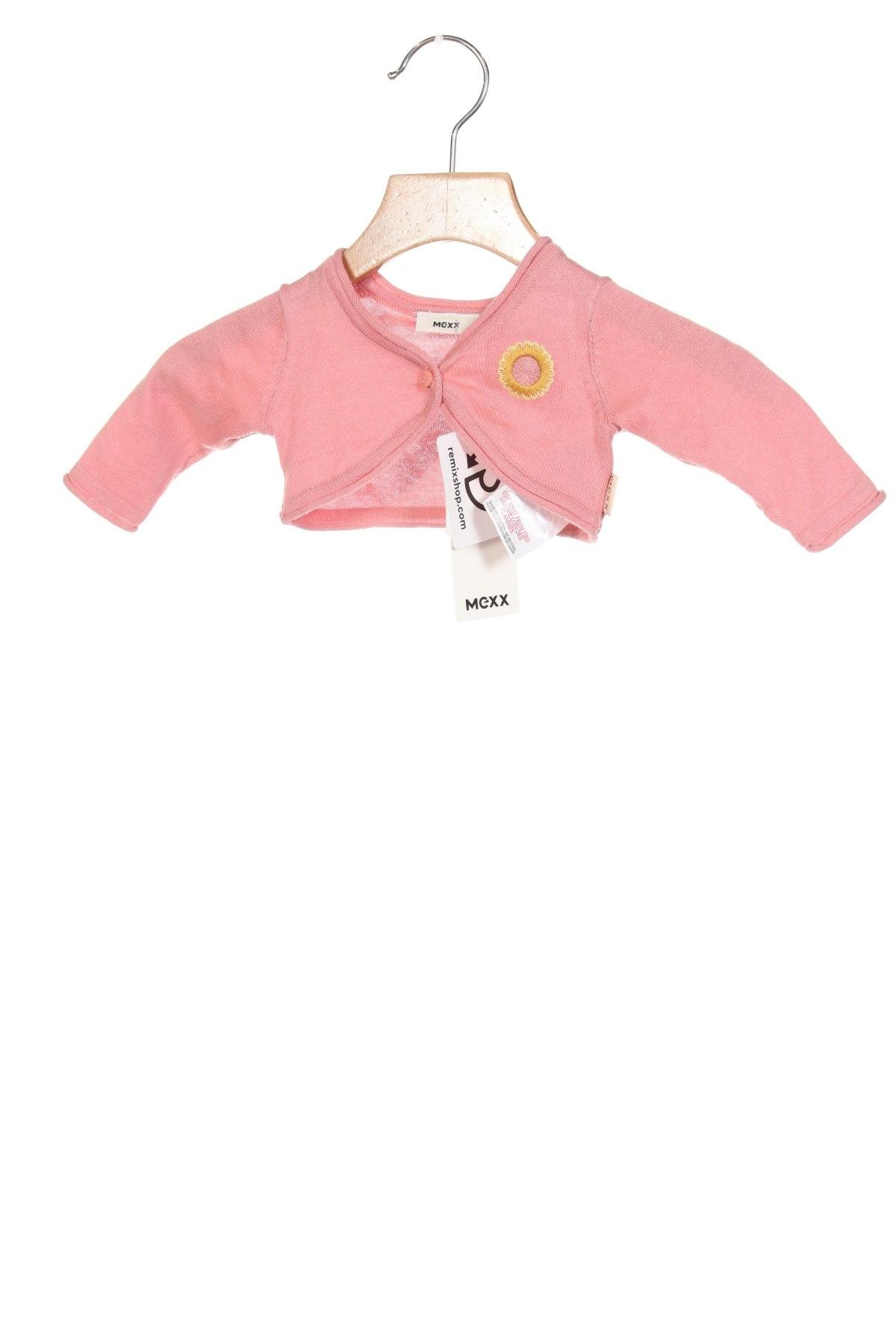 Детска жилетка Mexx, Размер 0-1m/ 50 см, Цвят Розов, Памук, Цена 33,00лв.