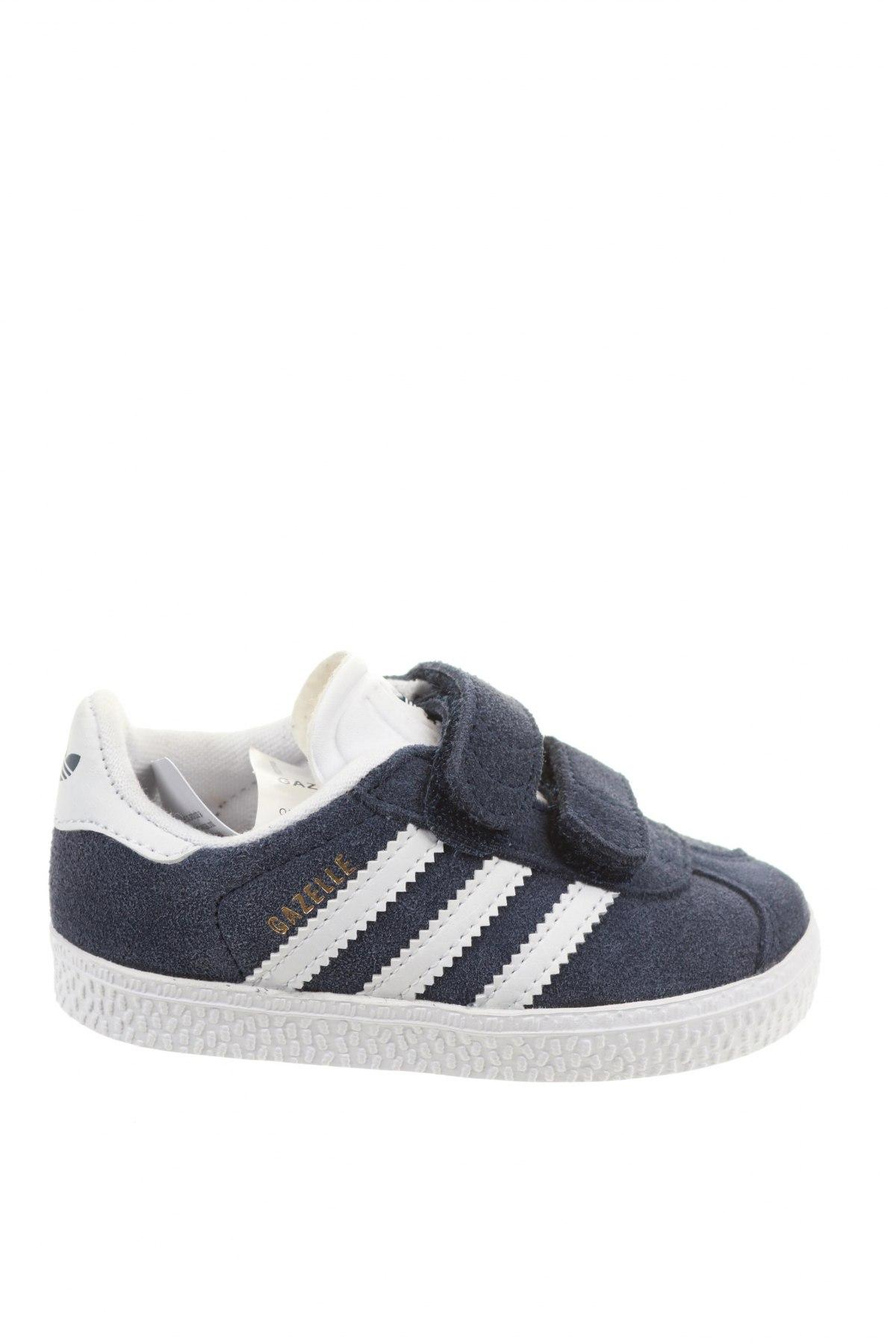 Детски обувки Adidas Originals, Размер 21, Цвят Син, Естествен велур, Цена 47,60лв.