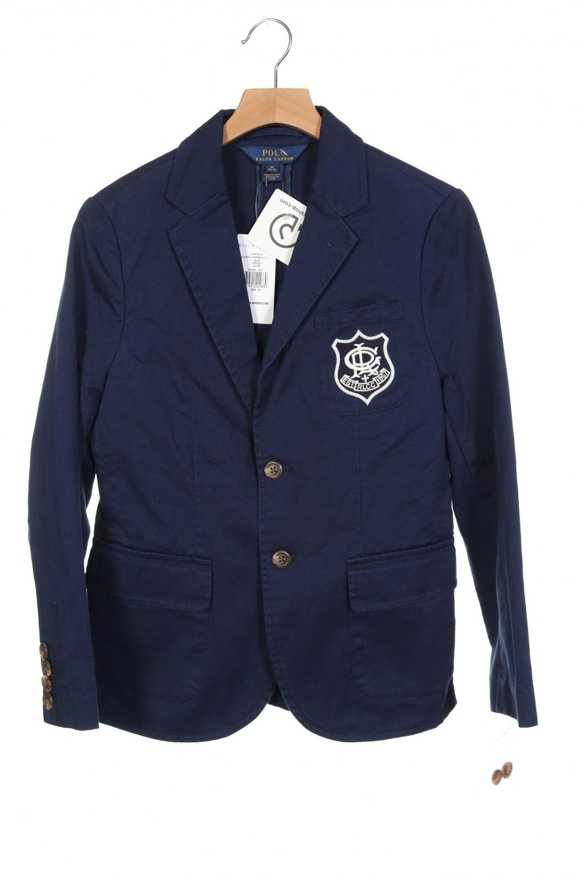 Dětské sako  Polo By Ralph Lauren, Velikost 10-11y/ 146-152 cm, Barva Modrá, Bavlna, Cena  2054,00Kč
