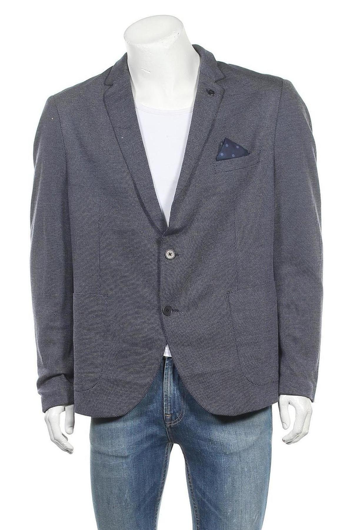 Sacou de bărbați Paul Hunter, Mărime XL, Culoare Albastru, 66% viscoză, 34% poliester, Preț 574,84 Lei