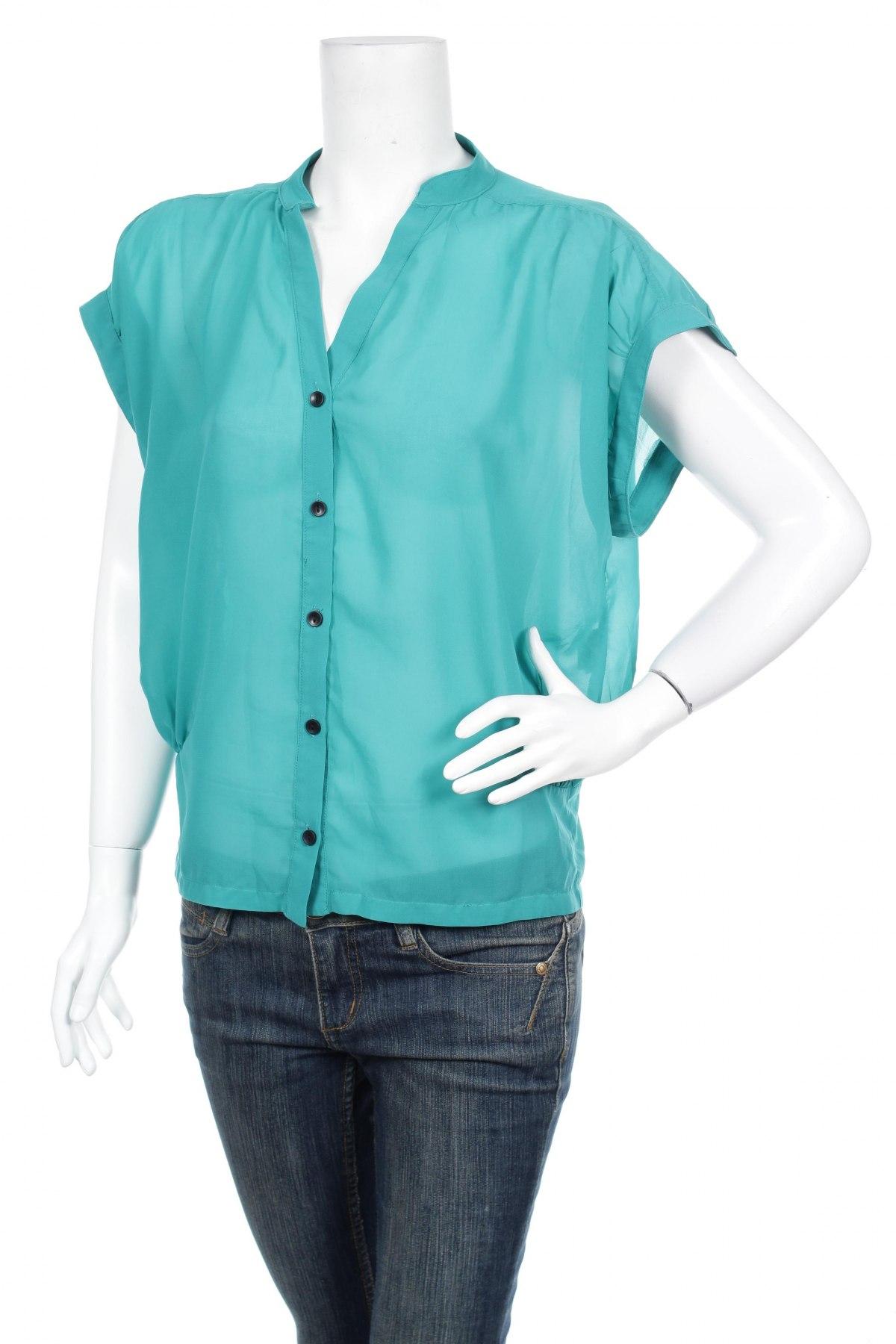 Γυναικείο πουκάμισο, Μέγεθος M, Χρώμα Πράσινο, Πολυεστέρας, Τιμή 9,90€
