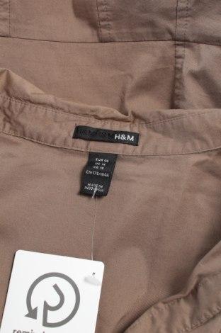 Γυναικείο πουκάμισο H&M, Μέγεθος XL, Χρώμα Καφέ, 73% βαμβάκι, 23% πολυαμίδη, 4% ελαστάνη, Τιμή 15,46€