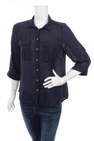 Γυναικείο πουκάμισο H&M, Μέγεθος L, Χρώμα Μπλέ, Πολυεστέρας, Τιμή 15,46€