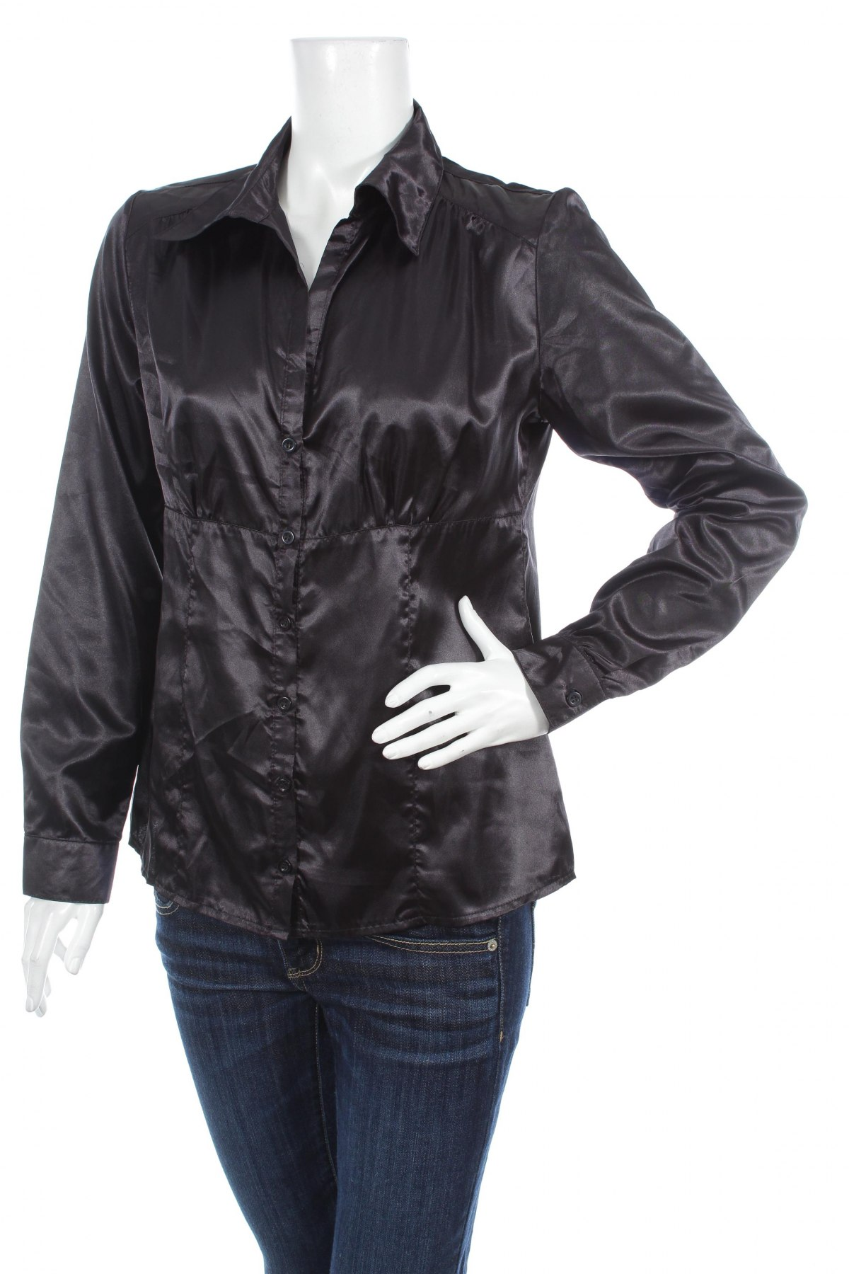 Γυναικείο πουκάμισο Re-Ject, Μέγεθος L, Χρώμα Μαύρο, Πολυεστέρας, Τιμή 18,56€