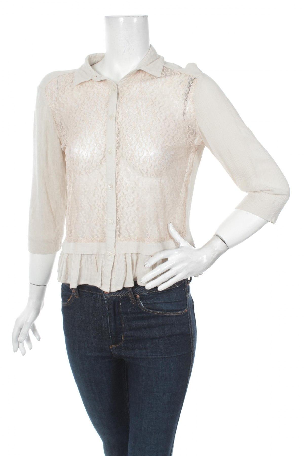 Γυναικείο πουκάμισο Vero Moda, Μέγεθος M, Χρώμα  Μπέζ, Τιμή 14,95€